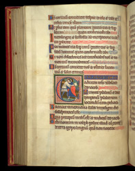 Historiated Initial With Jacob Wrestling With The Angel, In A Psalter Preceded By Miniatures And A Calendar